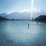 swimming at Lac du Passy