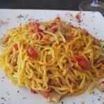 pasta pomodoro with pancetta