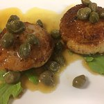 Wild-caught scallops with capers!