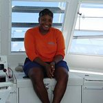 This is PC our snorkeling guide... love her