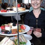 Afternoon tea at The Hepworth. Decadent and delightful.