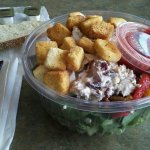 Perfect 10 Paradise Salad Topped W/Apple Cranberry Walnut Chicken Salad!