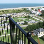View from atop the lighthouse....yikes!