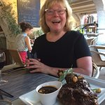 The lamb dish for two--comes with a massive bowl of demiglace