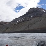moraine above glacier surface