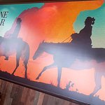 Our stunning new wild west mural in our main dining area