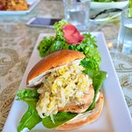 Lobster and shrimp burger