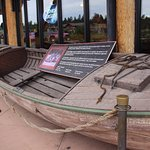 Replica boat such as the one used by John Wesley Powell in his voyage through the Grand Canyon.