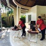 Massage lounge room
