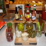 relish & hot sauce station