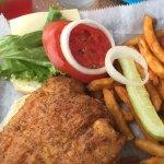 Grouper sandwich....very good,