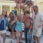 Picture Volunteer took of us with Sue the dinosaur.