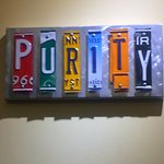 Purity Sign inside the store