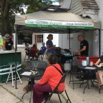 This is a pop-up cafe, fun to sit in nice weather!