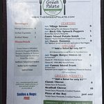 Menu - organic and vegan