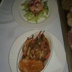 Shrimp reumolaude and crab claws.