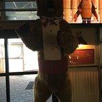 Some random bear on display in the restaurant.