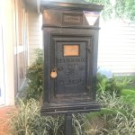 Old post box just outside lobby