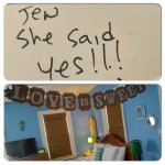 "One of our guest left this ""news""at the desk .  Jen took action and decorated their room while t"
