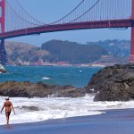 View from clothes free section of Baker Beach