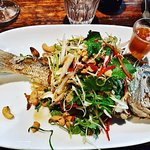 Whole snapper with fresh Salad
