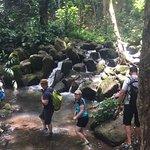"""Secret waterfall"" and end of Wailua River kayak and hike"