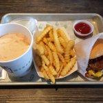 Black & White shake, fries, & a SmokeShack