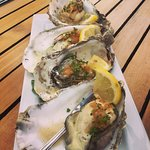 Grilled Yaquina Bay oysters. Deliciousness!