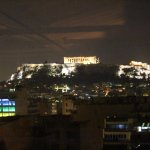 Acropolis from the Hotel at Night