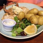 Dressed crab with new potatoes