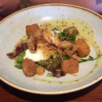 Ham Hock Terrine with Lyonnaise salad and poached egg