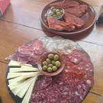 Mixed plate och cheese & meat, above pa amb oli Sobrasada