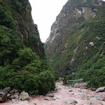 A view down the Urubamba River from our balcony.
