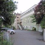 Paking and entrance of Seminarhaus Bruchmatt