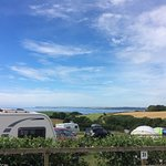 View from our caravan pitch