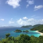 A view of Trunk bay from the top