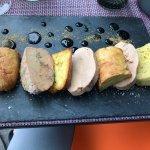 Foie gras 11,50 euros (une assiette pour deux suffi très largement)