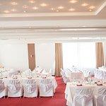 Dekorierter Festsaal für unsere Hochzeit