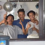The Gili Nyepi boys in the kitchen !