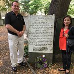 Susana Wesley's grave site in London (ny wife and I).