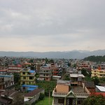 View of Pokhara city from temple