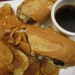 My French Dip & 'Pub Chips'
