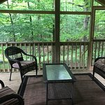 Private screened porch, off of Master Bedroom, love this space! Earl Covey cottage