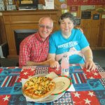Louis and I at Ace's Pizza.