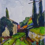 My painting of Pieve di Caminino. Absolutely inspiring! To see more visit www.amywynne.com
