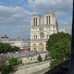 View of Notre Dame Cathedral from our room.