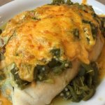 Look at this picture, it tasted even better than it looked! Stuffed chicken green chile sopapill
