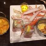 Yummy Seafood. Cute containers.