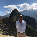 Carlos, our guide, at Machu Picchu