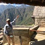 Carlos describing the complex aesthetic of the architecture